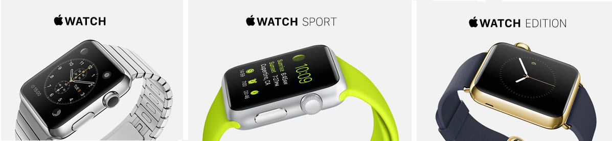 Different Apple Watch Versions