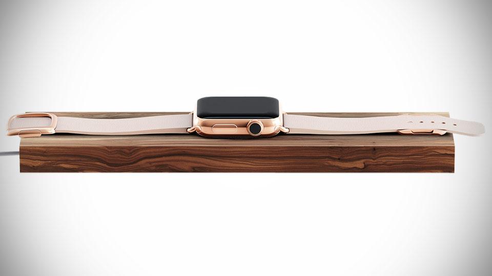 Wooden Apple Watch Charging Dock