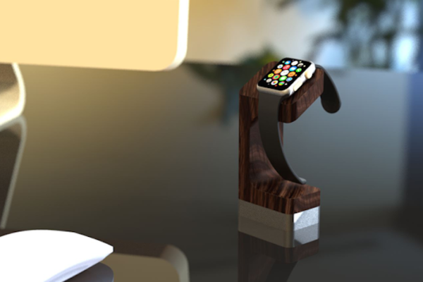 dodocase apple watch charging stand at the office