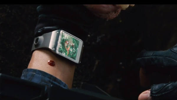 Samsung Galaxy-Gear-Smartatch in Jurassic World Movie